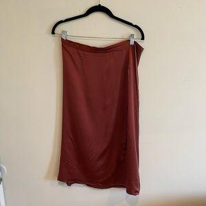 Lily Ashwell Silk Wrap Midi Skirt